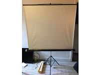 "Jessops Projection Screen. Excellent condition. Screen size 53"" wide x 48"" high"