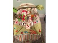 Fisher Price Woodsy Friends baby bouncing chair