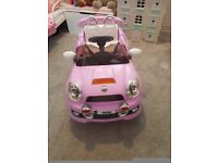 Electric toy ride on car pink