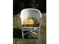 White Cane Pretty Vintage Chair