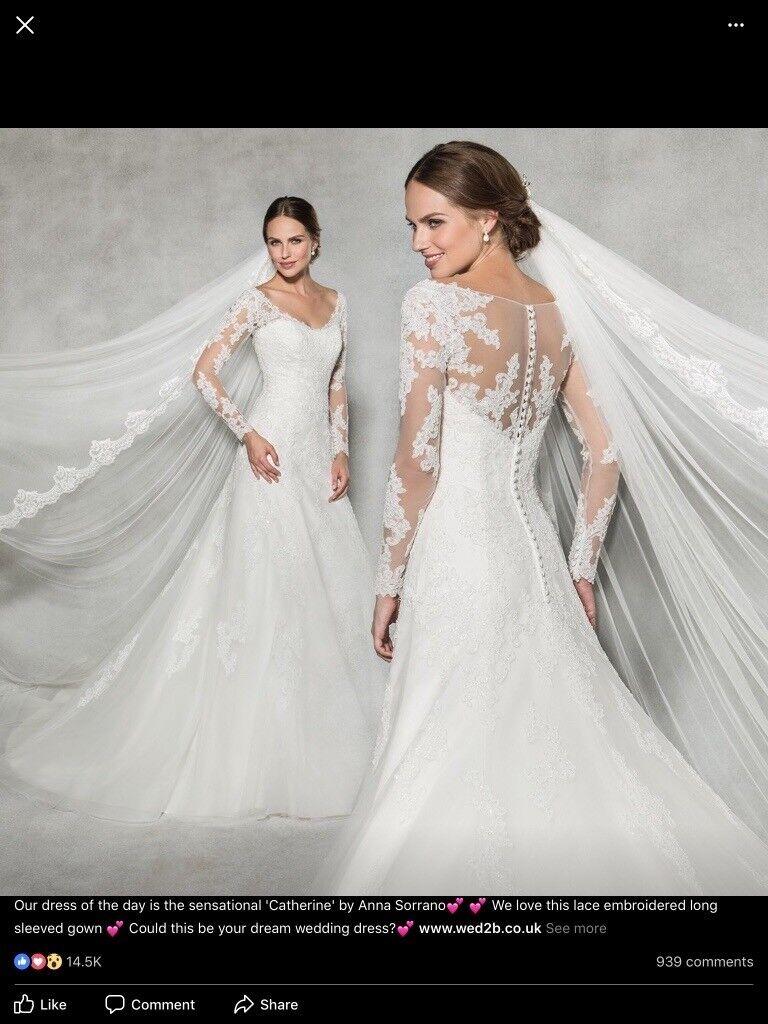 Wed2b Anna Sorrano Catherine Wedding Dress Size 16 Brand New With Tags