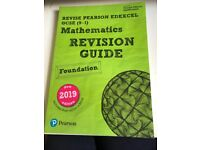Pearson Edexcel GCSE foundation maths revision guide and workbook