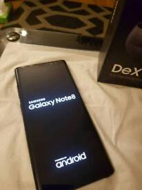 Samsung galaxy note 8 black 64gb mint condition boxed and with sealed Dex station