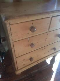 Victoria old pine chest of drawers