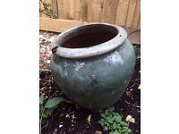 Pre-owned - Glazed Garden Plant Pot