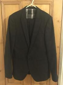 Men's River Island Suit Charcoal