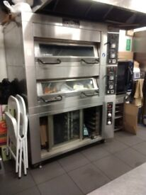 Commercial pizza oven, 3 phase with proofer