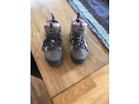 Girls walking boots size 12