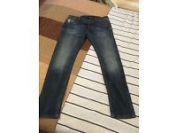 Men's 36R G-Star RawG-Star Jeans Defend Super Slim Skinny Fit Dark Aged New No Tags
