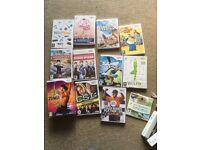 Nintendo wii, 12 games, wii fit and board, controllers and boxing controllers