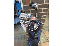 GOLF BAG CONTAINING RAM, TAYLOR MADE AND DONNAY CLUBS