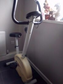 Exercise Bike high with digital display & tension control
