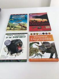 Dinosaur Books including plush Stegosaurus