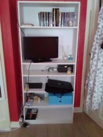 WHITE SHELVING UNIT ONLY