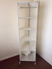 IKEA - ADJUSTABLE SHELVED OR HANGING STORAGE UNIT COMPLETE WITH CARRY BAG