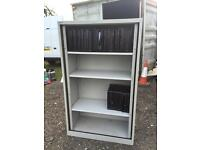 165cm tall tambour shelving metal book case storage unit.