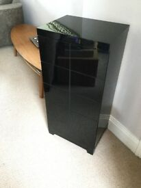 Black high shine cabinet with 5 drawers ( Next)