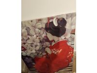NEW Large Oriental Image/Hand Painted