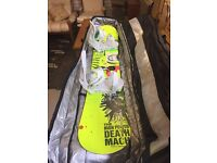 Ride - Death Machine Snowboard (156cm) with Burton bindings and Northwave boots - barely used!
