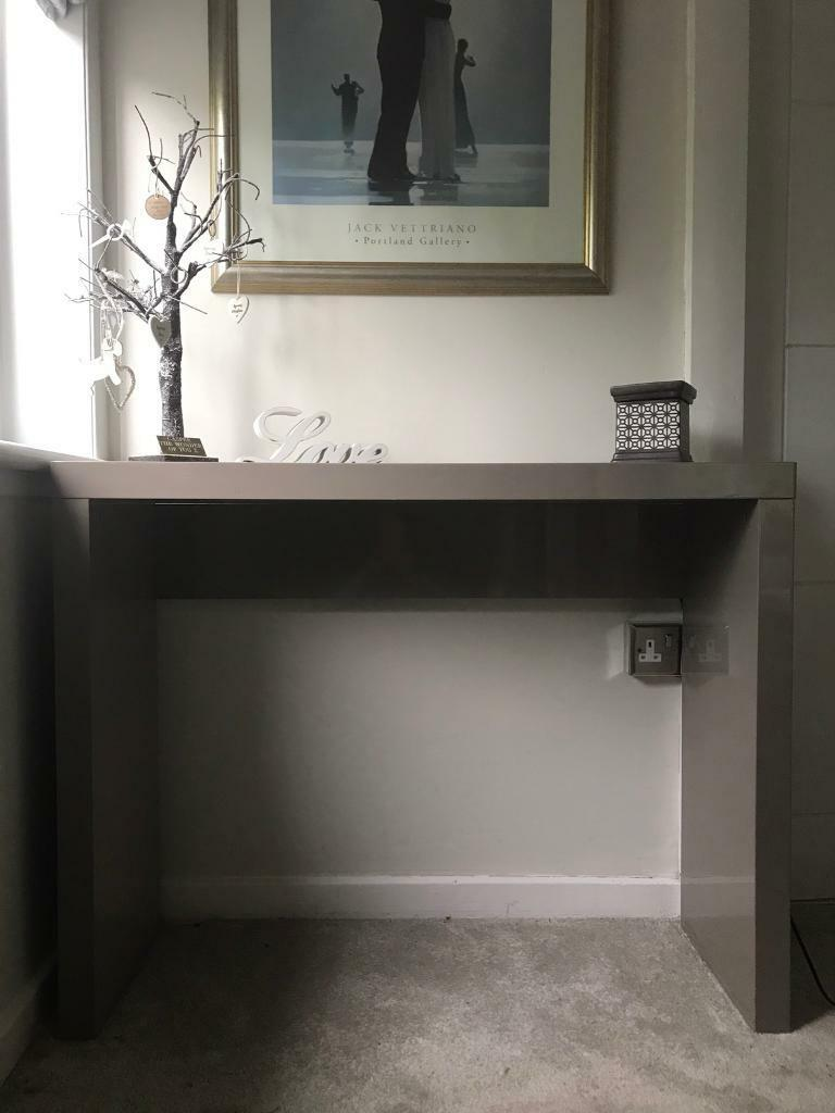 Ex Show Home Taupe Grey High Gloss Console Table