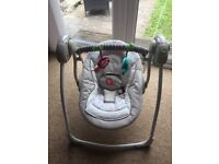Baby seat swing £35.00, good as new rrp £79.99