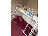 White metal bunk beds - mattress not included