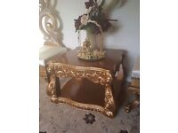 Beautiful Gold Coffee Tables x3