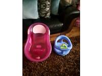 Bath safety seat baby bath and chair potty