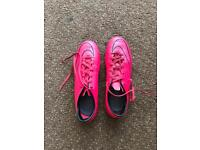Nike mercurial pink football boots size 7