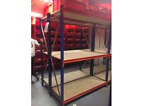 Used Warehouse Racking - Heavy Duty long span from EZR. Less than 6 months old
