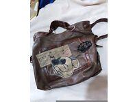 Beautiful original Italian leather bag. Dog motive very soft