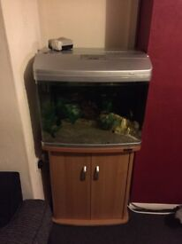 Aqua One 620 tank with cabinet for sale + Accessories.