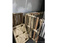 Free wooden pallets. Seven wooden pallets free to collect, a few different sizes