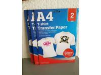 A4 T-shirt Transfer Paper (2 per pack)