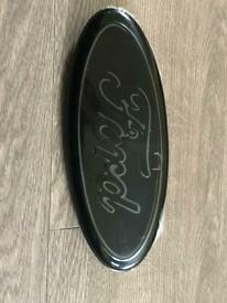 Ford transit badge gloss black and carbon