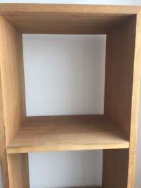 Oak display unit, 4 cube from Housing Units of Hollinwood