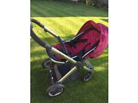 Oyster pushchair, carry cot and accessories