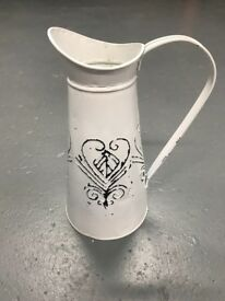 6x display jugs with heart detail - used as wedding centrepieces