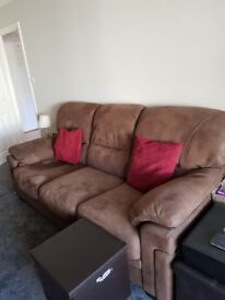 nearly new, 2 seat and 3 seat sofa.