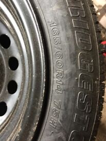 Brand New Car Tyre with Inside Spare Wheel