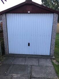 Concrete Sectional Garage With Up And Over Door