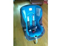 Britax car seat Blue, up to 4 years old. Good condition