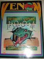 DETROIT VIPERS 1994 INAUGURAL SEASON PROGRAM WITH 2 TICKET STUBS