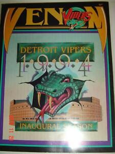 DETROIT VIPERS 1994 FIRST SEASON HOCKEY PROGRAM & 2 TICKET STUBS Windsor Region Ontario image 2