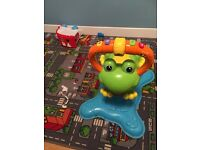 Bouncing frog, push along walker and leapfrog table