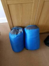 2 large cosy sleeping bags