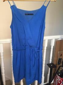 Beautiful blue Zara dress size smal