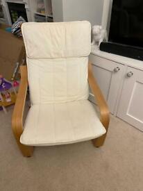 IKEA poang chair in cream