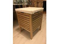 IKEA laundry stool with lid