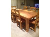 Solid Oak Dining Table And 6 Chairs EXCELLENT CONDITION